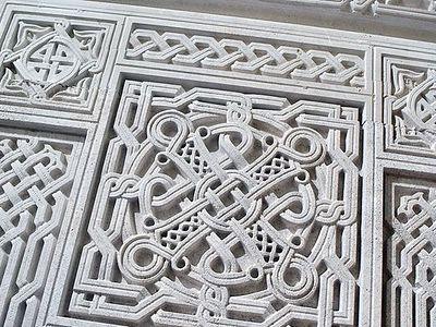 Каменный декор храма Новомучеников