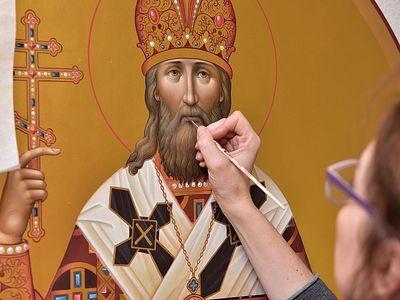 Ярославские иконописцы для храма Новомучеников