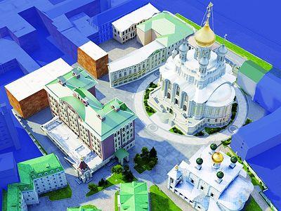 Работа над проектом храма Новомучеников