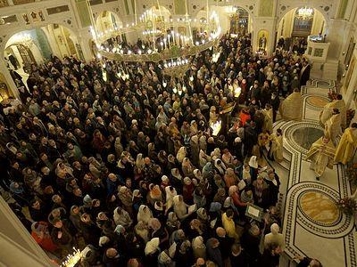 Ночная новогодняя литургия 2018 года