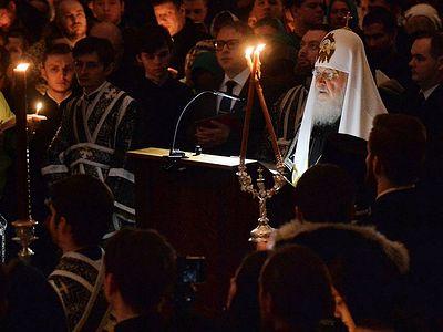 Патриаршее служение в четверг первой седмицы Великого поста в Сретенском ставропигиальном монастыре