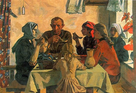 Виктор Иванов. Семья. 1945 г.