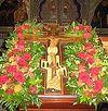 Всенощное бдение в Сретенском монастыре накануне Воздвижения Честного и Животворящего Креста Господня