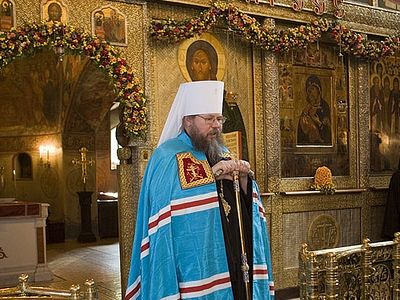 Fifteenth Anniversary of the Rebirth of Monastic Life in Sretensky Monastery. <BR>The First-Hierarch of the Orthodox Church in America (OCA) congratulates Archimandrite Tikhon and brothers of Sretensky Monastery
