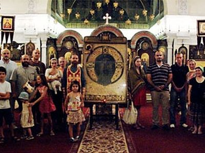 Relic From the Georgian Orthodox Church Visits Archangel Michael Church