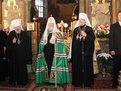 On Metropolitan Vladimir's 75th birthday, Patriarch Kirill celebrates Divine Liturgy at Kiev-Caves Lavra
