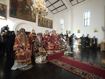 Metropolitan Hilarion officiates at celebration of 30th anniversary of episcopal consecration of Archbishop Mark of Berlin and Germany