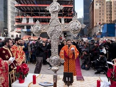 Feast of St. Nicholas (new style calender) celebrated at Ground Zero