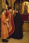 Всенощное бдение в Сретенском монастыре накануне дня памяти священномученика Илариона