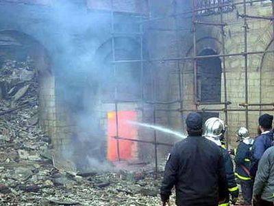 Fire at St. Panteleimon Monastery, Mt. Athos, partially under control