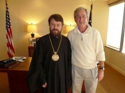 Metropolitan Hilarion (Alfeyev) meets with ex-President Bush