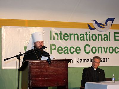 Metropolitan Hilarion speaks at the opening of the International Ecumenical Peace Convocation in Kingston