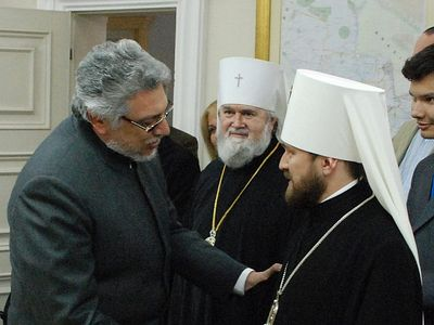 Metropolitan Hilarion (Alfeyev) meets with President of Paraguay