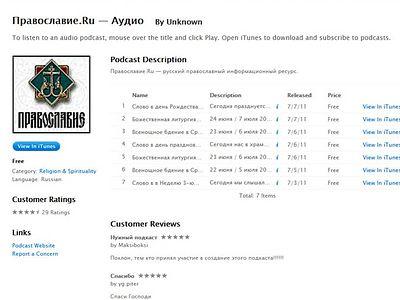 Pravoslavie.ru Podcasts available on internet