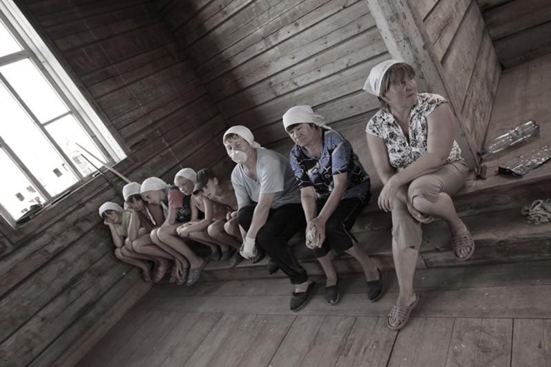 Жители деревни Большая Фехтальма
