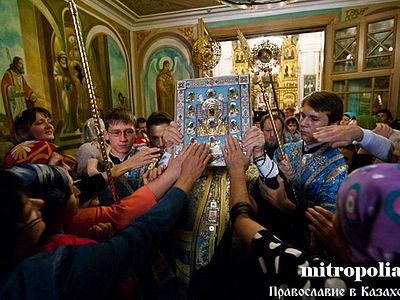 Kazakhstan bids farewell to the Kursk icon of the Mother of God