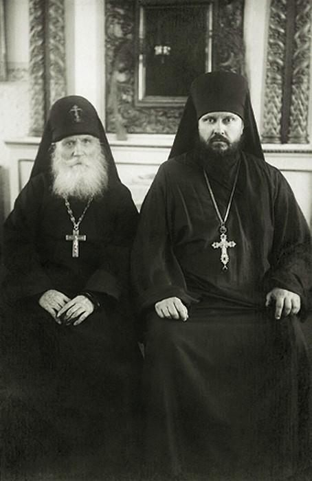 Преподобный Симеон (Желнин) и игумен Пимен (Извеков), будущий Патриарх