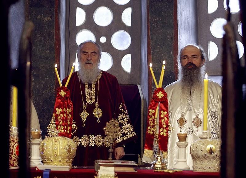 Святейший Патриарх Сербский Ириней и епископ Рашко-Призренский Феодосий