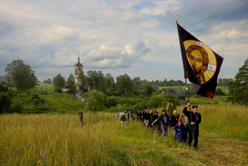 Лики Иринарховского крестного хода. Выход из Георгиевского села