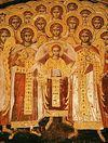 Всенощное бдение в Сретенском монастыре накануне Собора Архистратига Михаила и прочих Небесных Сил бесплотных