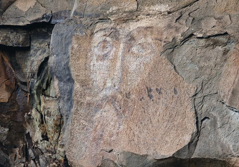 Наскальная икона Христа (Архызский лик, А. Демаковым датируется IX веком)