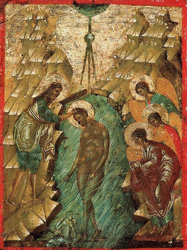 Двустороняя икона-таблетка, вторая четверть XV в., Сергиево-посадский музей