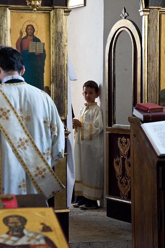 Божественная литургия. Пономарь.