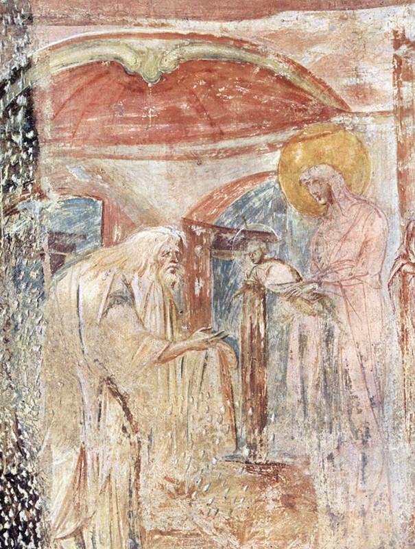 Fresco, late 7th c., Church of Santa Maria Castelserpio, Italy