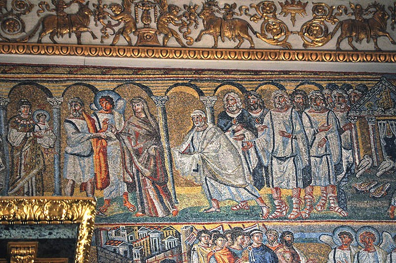 The Meeting of the Lord. Mosaic in the triumphal archway, Santa Maria Maggiore basilica, Rome. 432-440. Photo: Pavel Otdelnov
