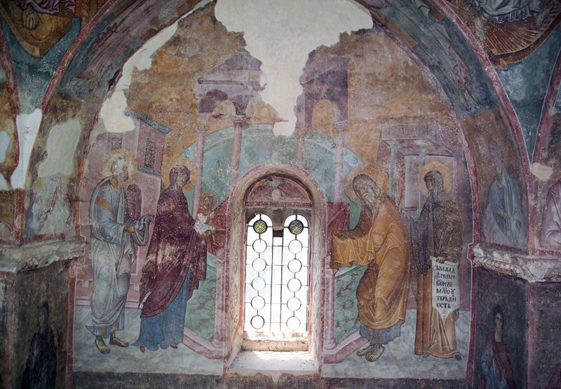 Fresco, Holy Trinity Church, Sopocani Monastery. Cir. 1265, Serbia.