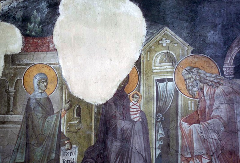 Fresco, Church of the Dormition, Gracanica Monastery, Serbia, 1321.