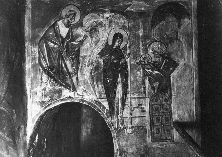 Fresco, Church of the Dormition on Volotov Field, Novgorod, late 14th c. (lost)