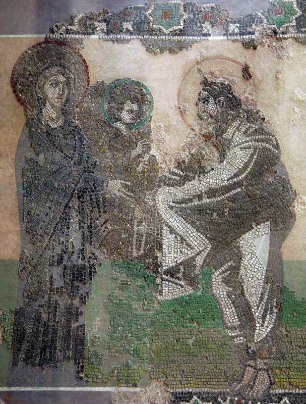 Mosaic, Church of the Mother of God Kyriotissa (Kalendarkhane Mosque), Istanbul. Archeological Museum, Istanbul.