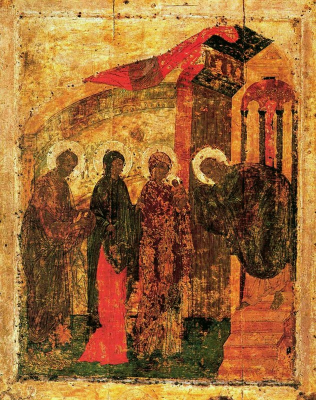 Icon from the early 15th c., from the festal row of the Annunciation Cathedral, Moscow Kremlin.