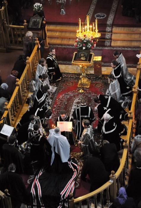 Коленопреклоненная молитва во время Великого Покаянного канона Андрея Критского