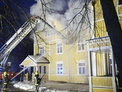 Fire at New Valamo Monastery
