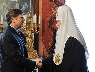 Primate of the Russian Orthodox Church meets with US Ambassador Michael McFaul