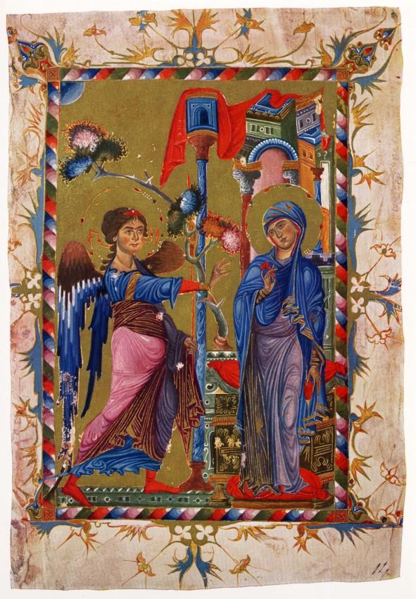 Миниатюра армянского евангелия, XIII век