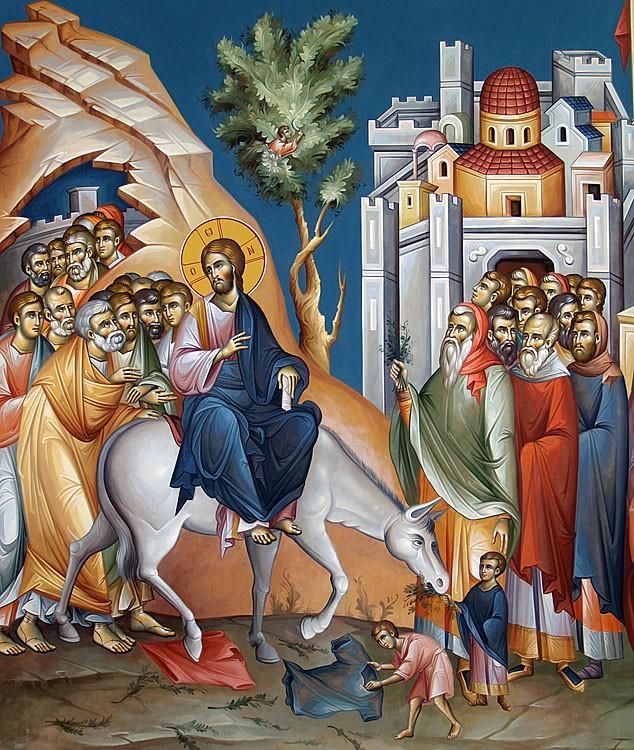 Толкование Евангелия на каждый день года. Неделя 6-я, ваий, Вход Господень в Иерусалим