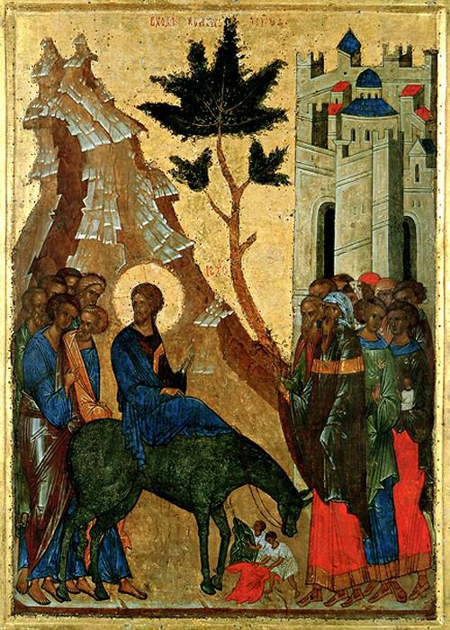 Вход Господень в Иерусалим. 1497 г. Кирилло-Белозерский монастырь
