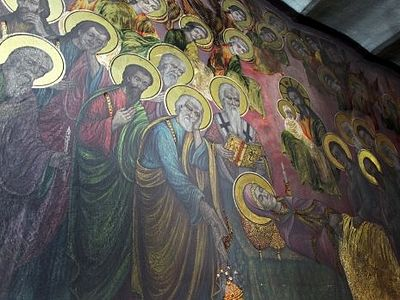 Macedonia church says miracle occurring with shining frescoes