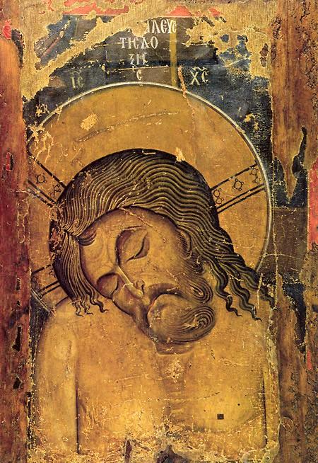 Великая Суббота. Оборотная сторона двусторонней иконы с образом Богоматери Одигитрии