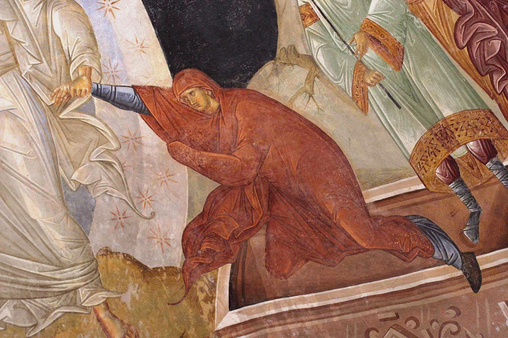 Eve. Fragment of Christ's descent into hell. Fresco in Chora Monastery, Constantinople. 14th c.