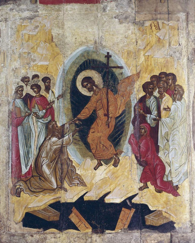 Christ's descent into hell. The Russian State Museum.