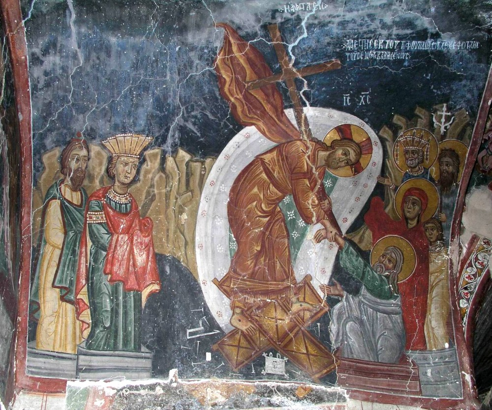 Christ's descent into hell. A Cyprus fresco.