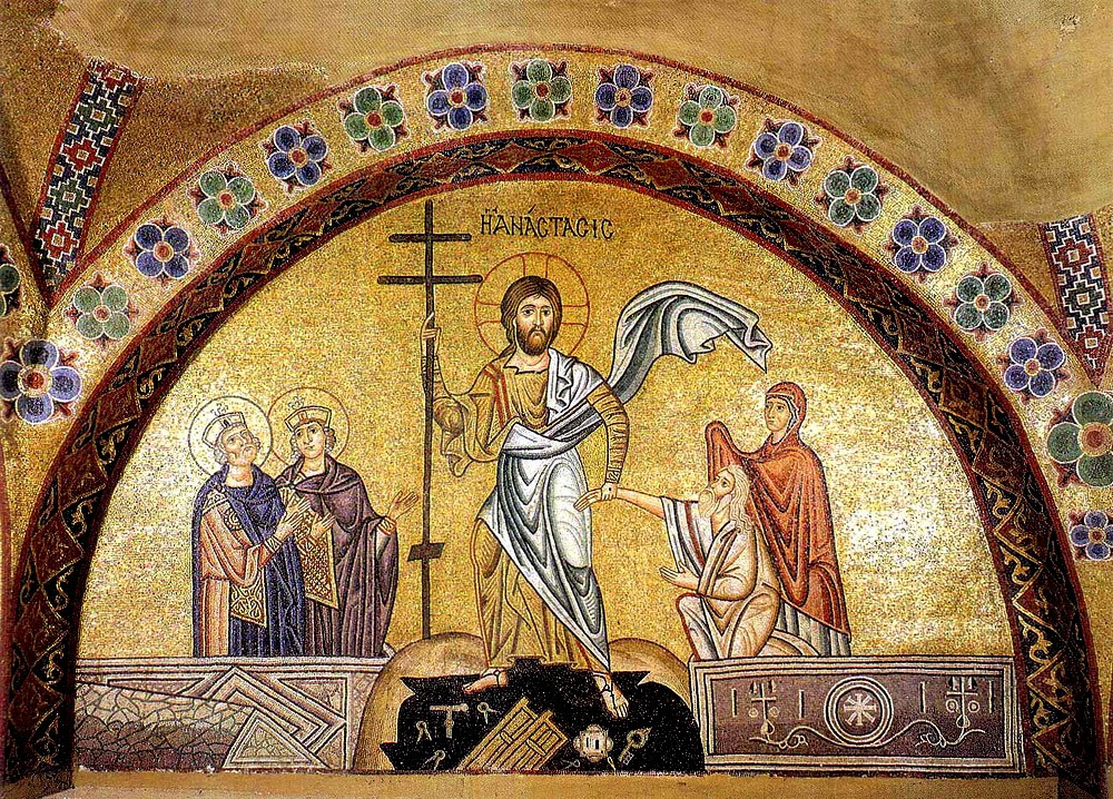 The Resurrection of Christ. Mosaic in the monastery of Osios Lukas. 6th c.