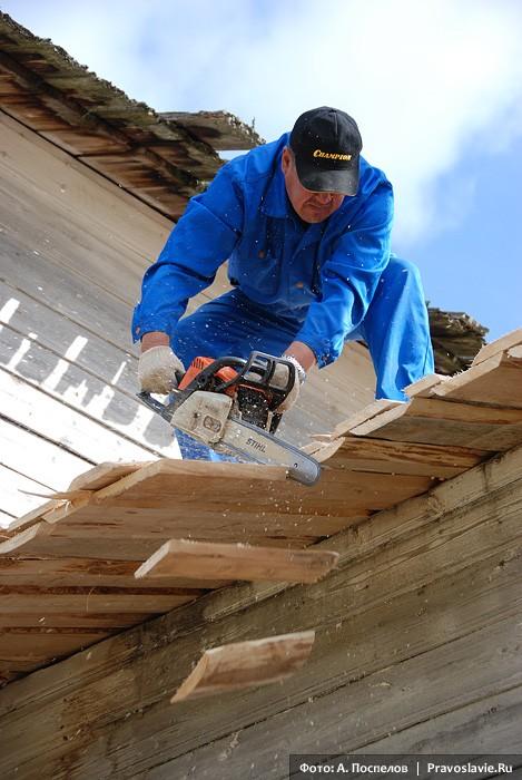 Подравнивание края крыши