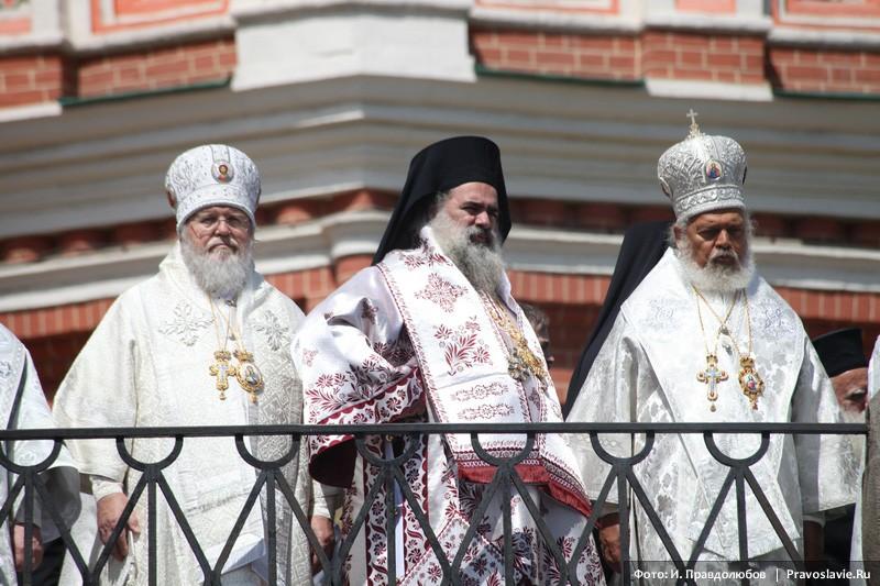Первоиерарх РПЦЗ митрополит Иларион и греческие архиереи