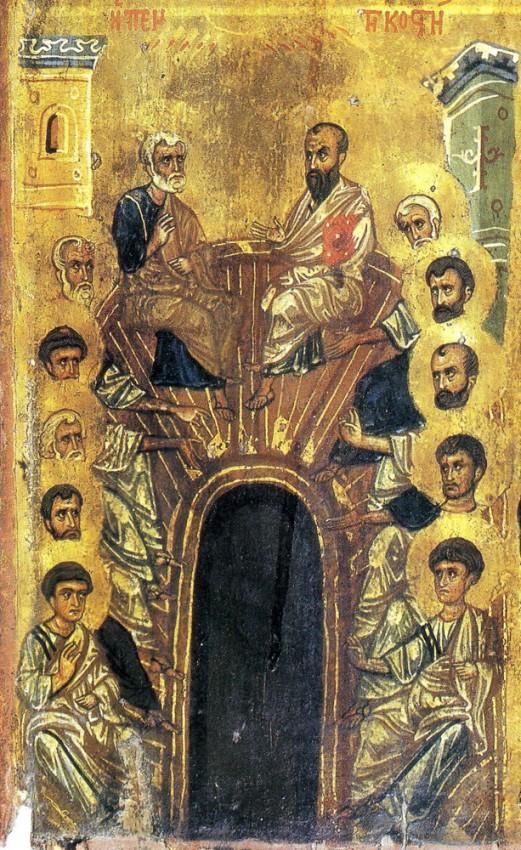 Пятидесятница, сер. XII в, Синай