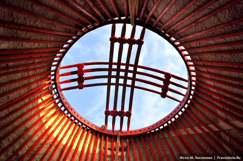 В монгольской юрте